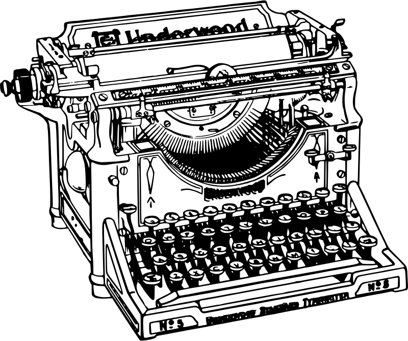 Clip Art old typewriter